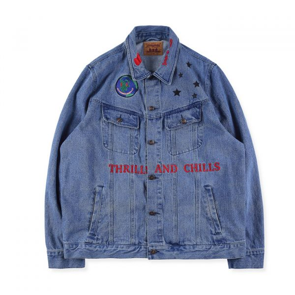 Astroworld Denim Levis Jacket front