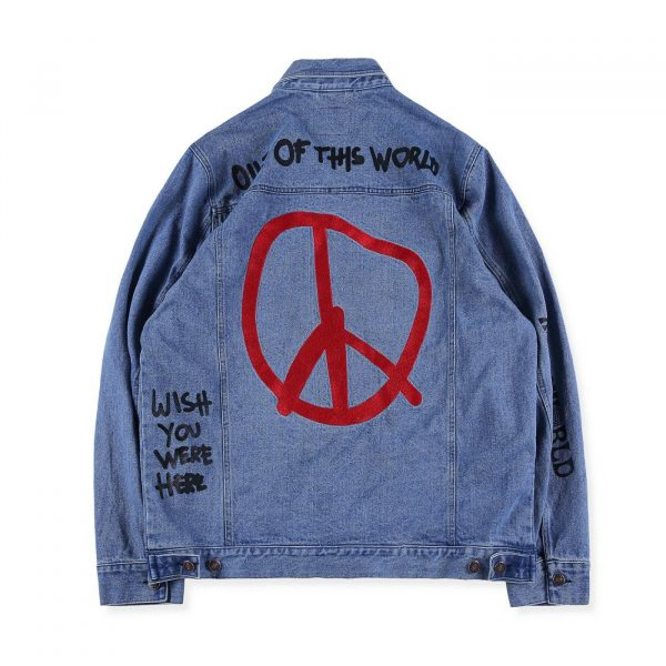 Astroworld Denim Levis Jacket back