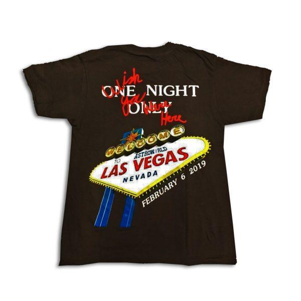 One Night Las Vegas Tour shirt back