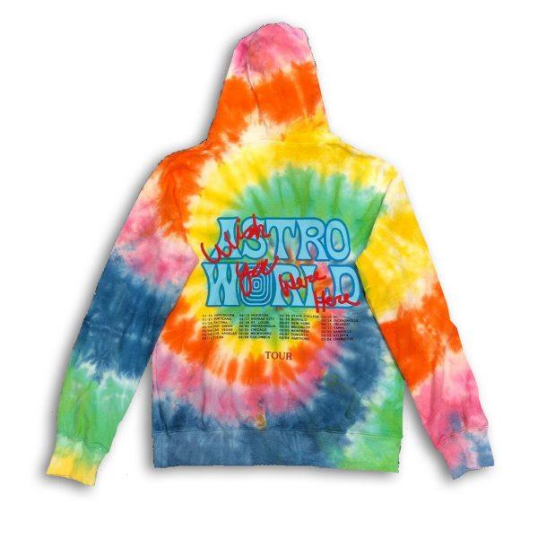 Travis scott tour hoodie back