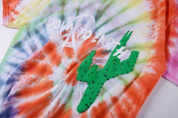 Astroworld tour Astronaut Tie Dye closeup