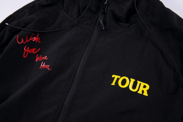 Astroworld No Bystanders jacket closeup