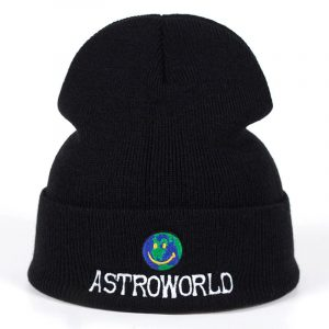 Astroworld happy face beanie