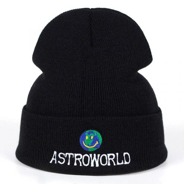 Astroworld happy face beanie