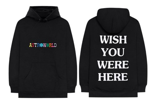 Astroworld Hoodie to show some items to readers