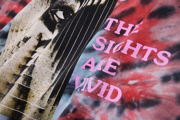 Astroworld Festival Tie Dye closeup