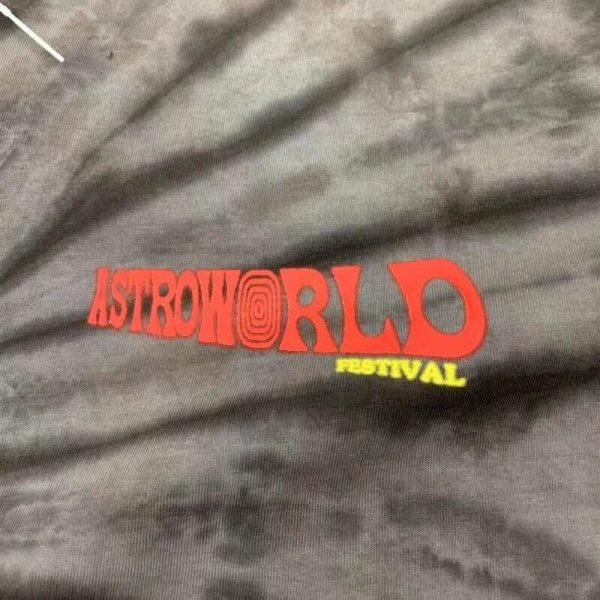 Astroworld Fest Gray Tie Dye pocket