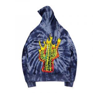 Astroworld Coney Island Merch Tie Dye Hoodie back