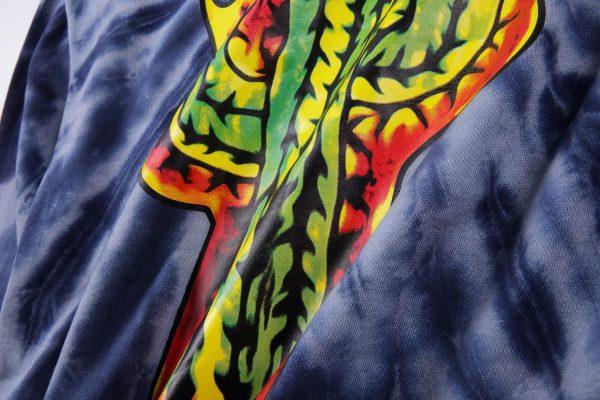 Astroworld Coney Island Merch Tie Dye Hoodie print