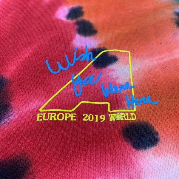 Astroworld Europe Tour Tie Dye Hoodie print