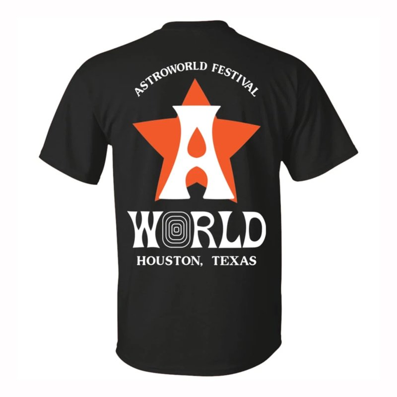 Astroworld festival official shirt back