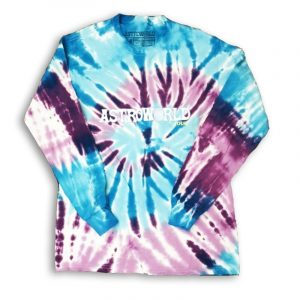 Astroworld Long sleeve tie dye front