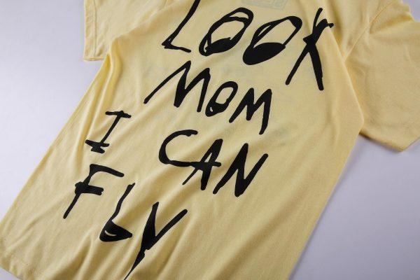 Look mom i can fly Khaki Shirt print