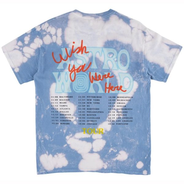 No Bystanders blue tie dye tee back