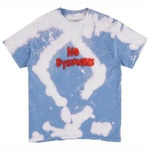 No Bystanders blue tie dye tee front