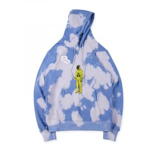 Tour Astronaut Blue Tie Dye Hoodie front